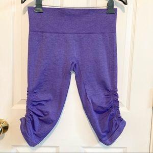 Lululemon In The Flow Crop Seamless Leggings in Power Purple Size 8
